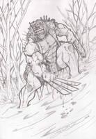 Wolverine weapon X ( Wolverine arma x) by vandalocomics