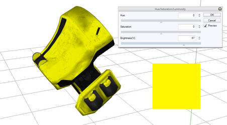 A Yellow Model In Progress by DarkKomet