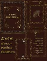 Gold decorative frames by Lyotta