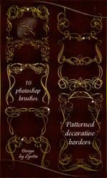 Photoshop brushes - Decorative corners and borders by Lyotta