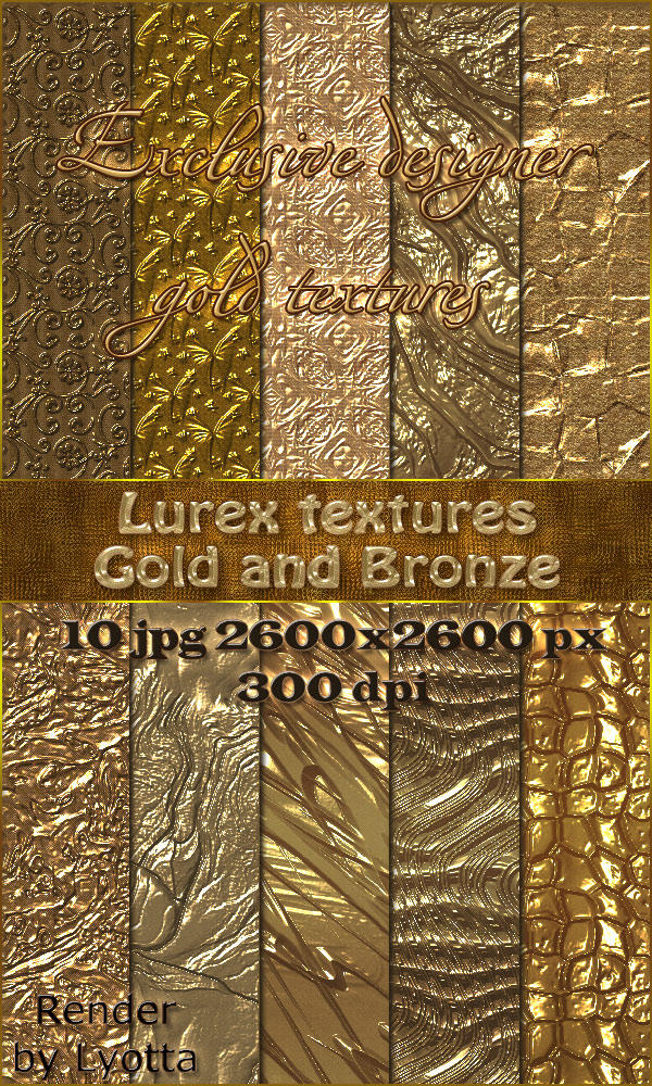Shiny gold texture - Gold and Bronze by Lyotta