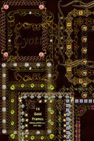 Gold decorative frames with ornaments and jewels by Lyotta