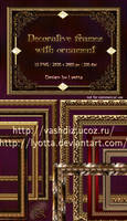 Decorative frames with patterned baguettes by Lyotta