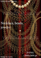 Necklace, beads, jewelry, frames by Lyotta