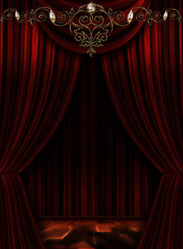 Red background Theatre scene by Lyotta