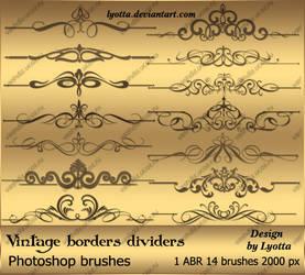 Vintage borders dividers by Lyotta