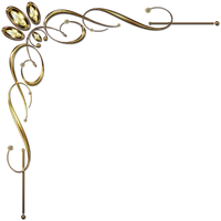 Golden Corner Ornament 1 by Lyotta