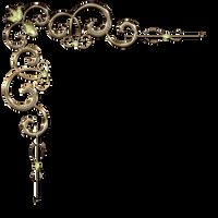 Decorative corner with diamond diamond in gold by Lyotta
