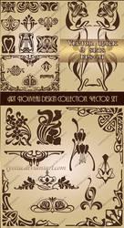 Art Nouveau design collection. Vector set 2 by Lyotta