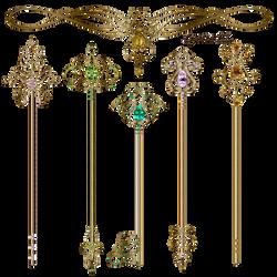 Gold keys by Lyotta