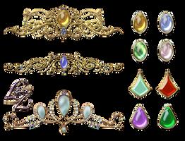 Crown Tiara Gems Lyotta by Lyotta