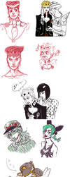 jojo sketchdump by whinge