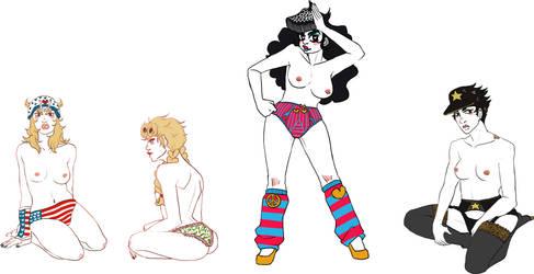 jojo genderbends by whinge
