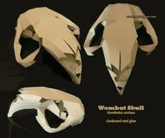 Cardboard Wombat Skull by melanippos
