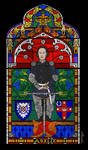 Stained glass window design by melanippos