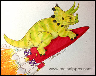 Rocket Dinosaur by melanippos
