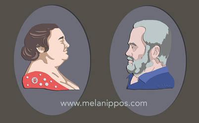 Digital Papercut portraits by melanippos