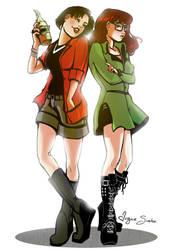Jane and Daria by VirginieSiveton