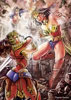Wonder Woman VS other versions of Wonderwoman by VirginieSiveton