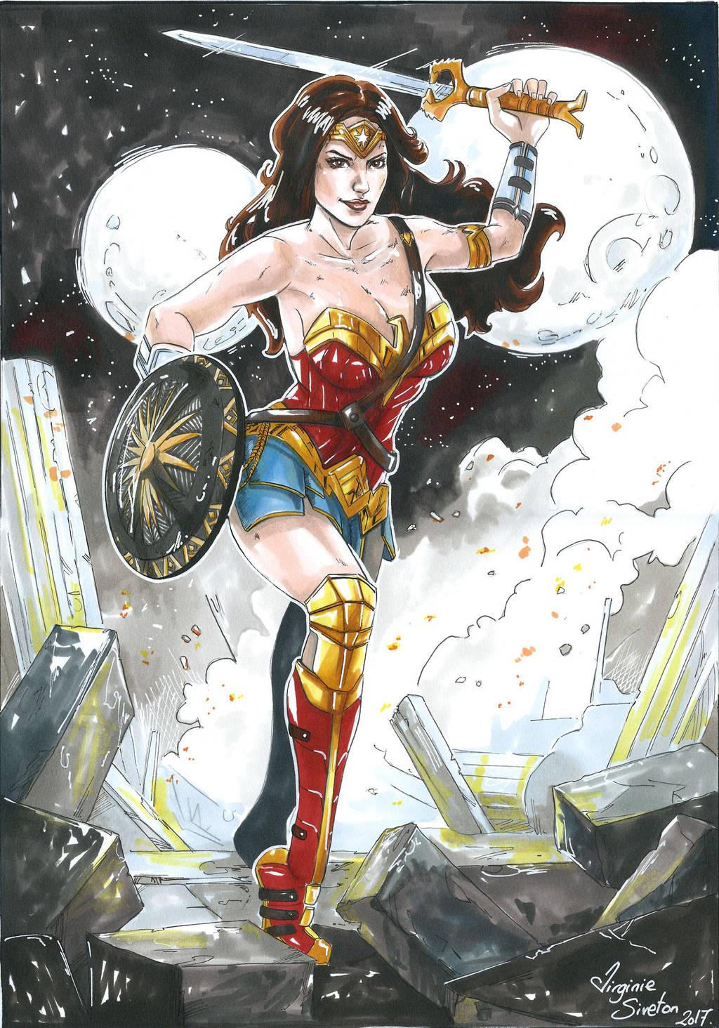 Wonder Woman BattleField by VirginieSiveton
