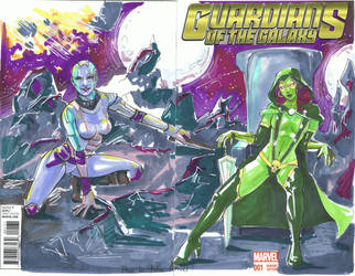 Blank Cover Guardians of the Galaxy by VirginieSiveton