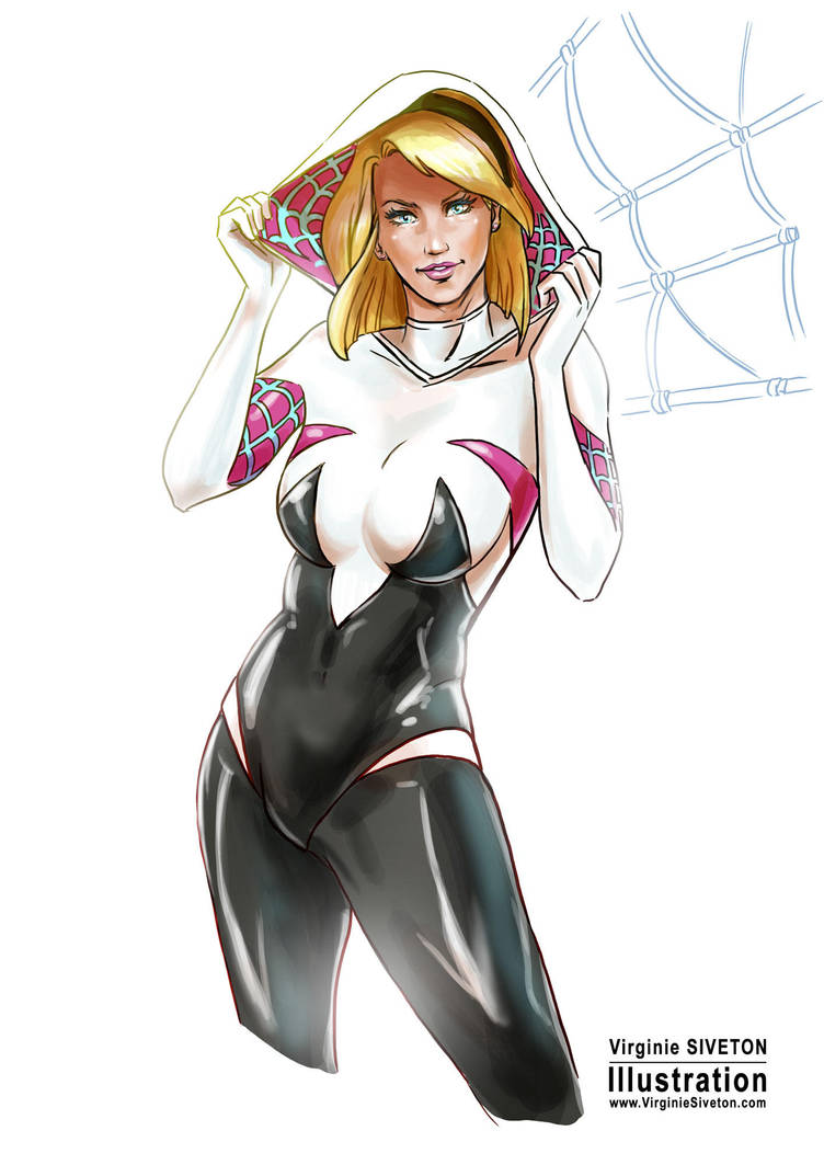 Spider Gwen by VirginieSiveton