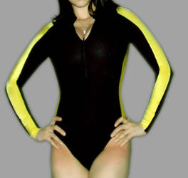 Lara Corft wetsuit commission front! by pbbunnybear