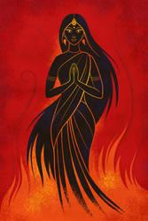 Birth of Draupadi by zdrava