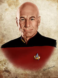 Star Trek. Captain Jean-Luc Picard. by webmartin99