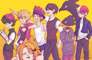 Boku no Hero Academia: Main Boys (Print) by reincarnationz