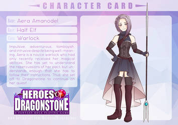 [Heroes of Dragonstone] Aera Amanodel by reincarnationz