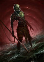 Captain Ahab, the drowned zombie by WillWarburton