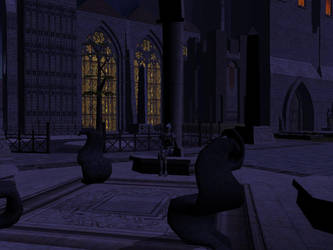 Mithrilore Keep - Ext Night by Ascadia