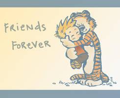 Calvin and Hobbes- Hug by Karana-Collyester