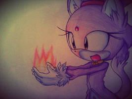 Blaze The Cat by alicethewolf331