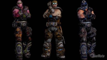 [DOA5LR] [DL] Gears of War 3 import pack #2 by SaafRats