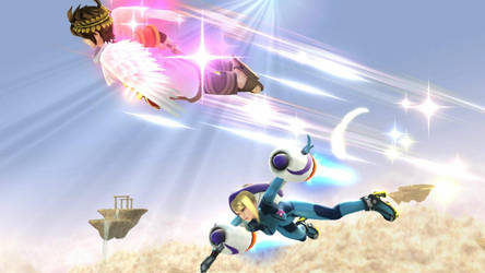 Pit x Samus:  Soaring Delight 2 by AdmiralPit
