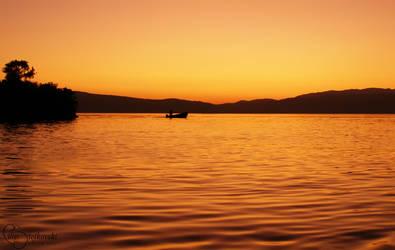 Relaxing sunset III by FLixter