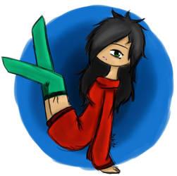 [OC] Saika in reddish sweater by sukite0seishi