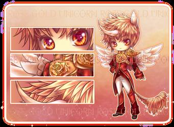 Adopt Auction: Rose Gold Unicorn Prince [Closed] by furesiya