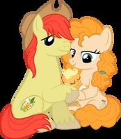 MLP Vector - Applejack's Parents #2 by jhayarr23