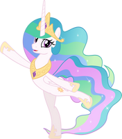 MLP Vector - Princess Celestia by jhayarr23