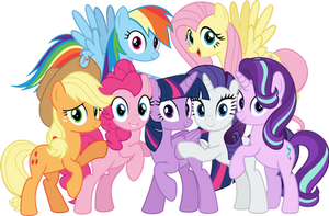 MLP Vector - The Mane Seven by jhayarr23