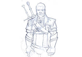 The Witcher 3 sketch by daviseveriano