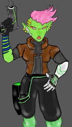 Alien Bounty Hunter by ObamasMyDad