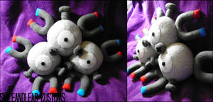 Magneton Plush by SmileAndLead