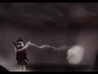 A misty walk home by MergedPotato