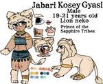 Jabari Kosey Gyasi [REFERENCE SHEET] by XxVampweebyxX