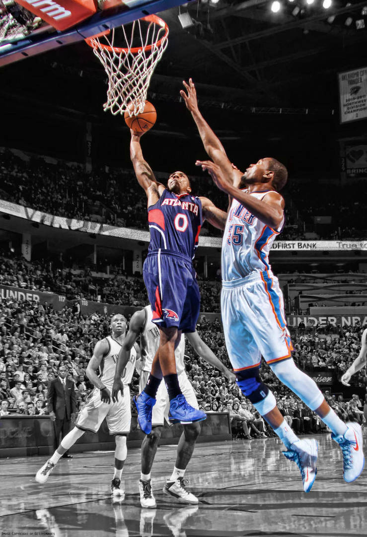 Jeff Teague Dunk On Kevin Durant By Rhurst On Deviantart
