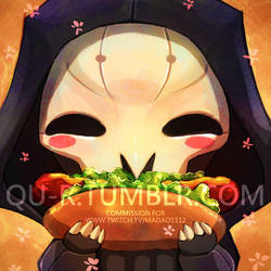 OW Reaper avatar commission by Qu-r
